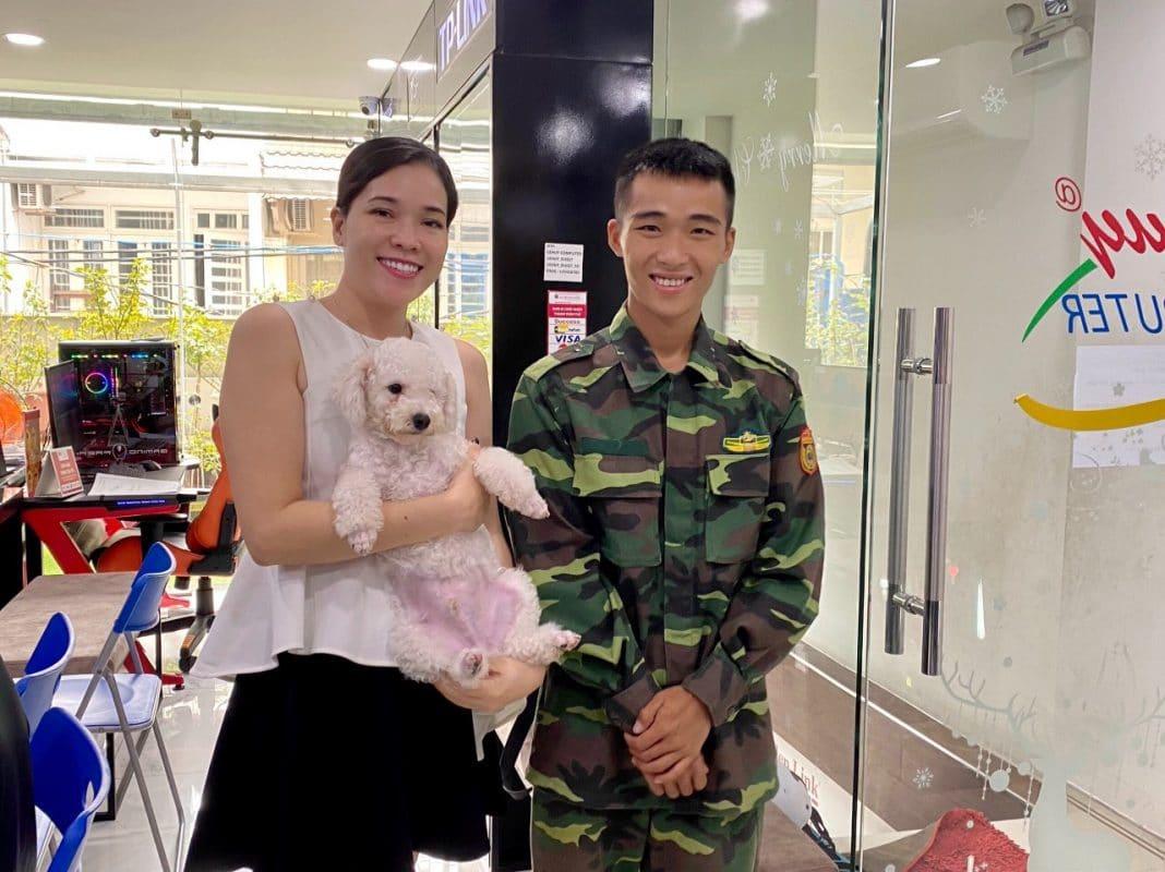 Khách hàng gửi chó huấn luyện tại Thiên Khuyển